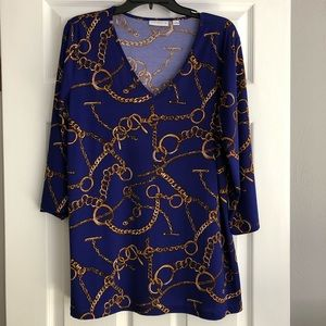 Susan Graver Size L. 3/4 sleeve. V neck tunic